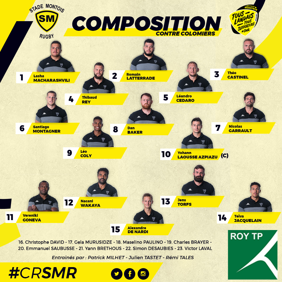 Composition Colomiers vs SMR