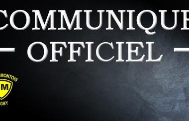 Communiqué Officiel