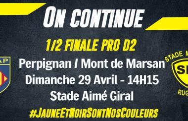 Billetterie 1/2 Finale de Pro D2 : Perpignan / Mont de Marsan