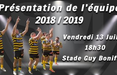 Présentation de l'équipe 2018 / 2019