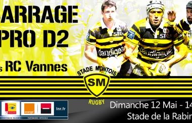 Billetterie Barrage Pro D2 : RCV / SMR