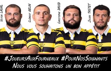 #JoueursAuxFourneaux #PourNosSoignants
