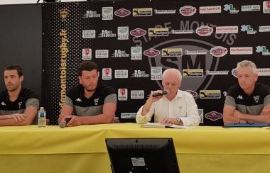 Conférence de presse de Jean Robert Cazeaux, Président du Stade Montois Rugby