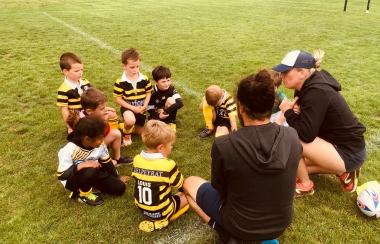 Nos professionnels à l'école de rugby