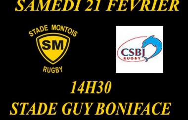 Horaire de la rencontre Stade Montois Rugby contre Bourgoin