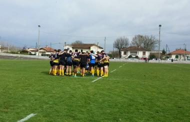 Score de parité 22-22 entre les Espoirs du Stade Montois Rugby et le Racing Club de France